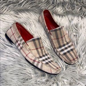 Burberry nova check loafers suede 39